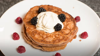 High-Protein Chocolate Pancakes | Transformed | Day 14